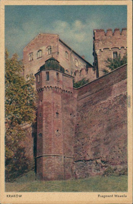 Postcard Krakau Kraków Fragment Wawelu 1938