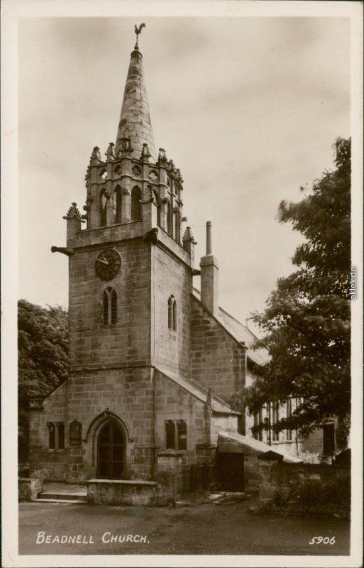 Postcard Beadnell Church 1932