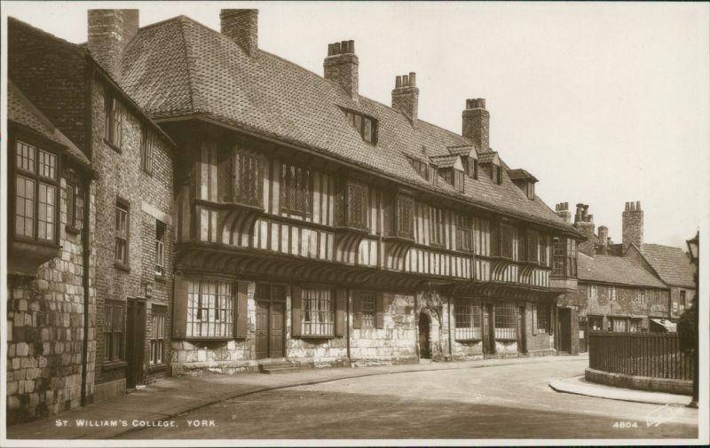Postcard York St. William's College 1932