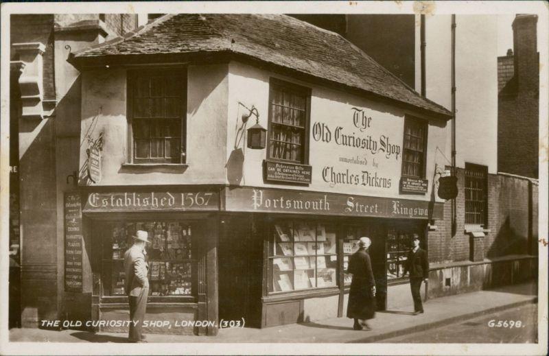 Postcard London The Old Curiosity Shop 1947