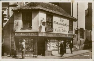 Postcard London The Old Curiosity Shop 1947