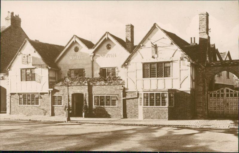 Postcard Stratford-on-Avon The White Swan 1929