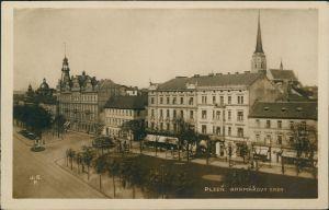 Postcard Pilsen Plzeň Kramarovy Sady 1934