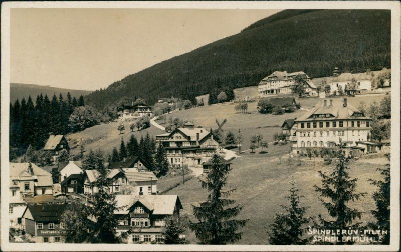 Spindlermühle Špindlerův Mlýn | Spindelmühle Blick auf die Stadt 1932
