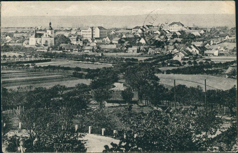Postcard Liban Libáň Stadtpartie b Jicin Königgrätz 1923