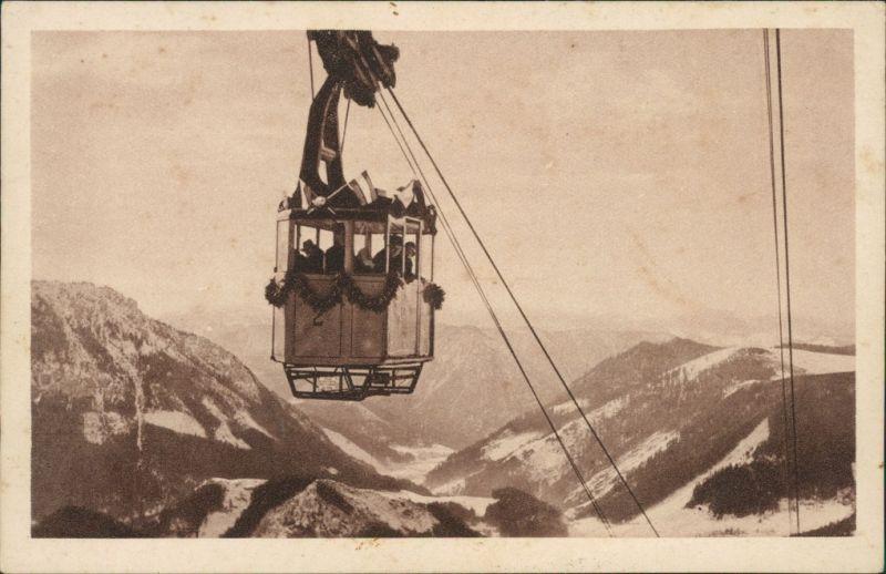Ansichtskarte Mariazell Seilschwebebahn auf das Bürgeralpl 1928