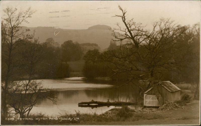 Postcard Steyning Wiston Pond 1909