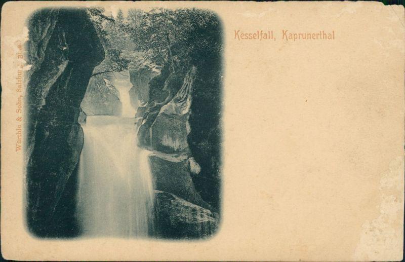 Ansichtskarte Semriach Kesselfall, Kaprunerthal 1900