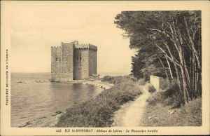 CPA Cannes Île Saint-Honorat, Abbaye de Lèrins 1928