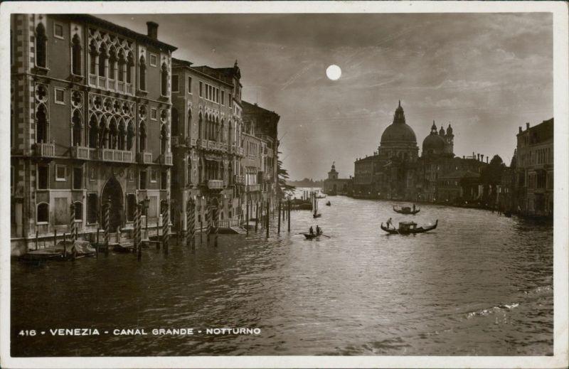 Cartoline Venedig Venezia Canal Grande, Notturno 1931