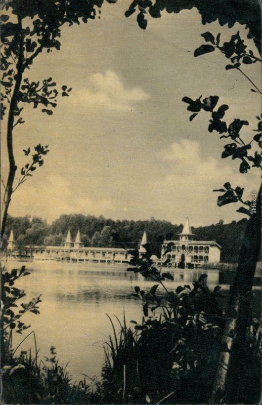 Postcard Hévíz Hévíz-gyógyfürdő. Strand 1964