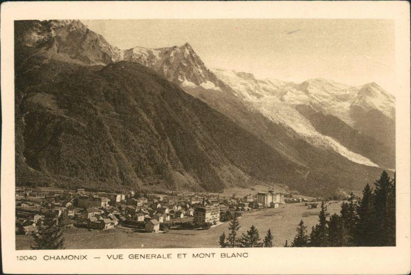 CPA Chamonix-Mont-Blanc Vue Generale et Mont Blanc 1932