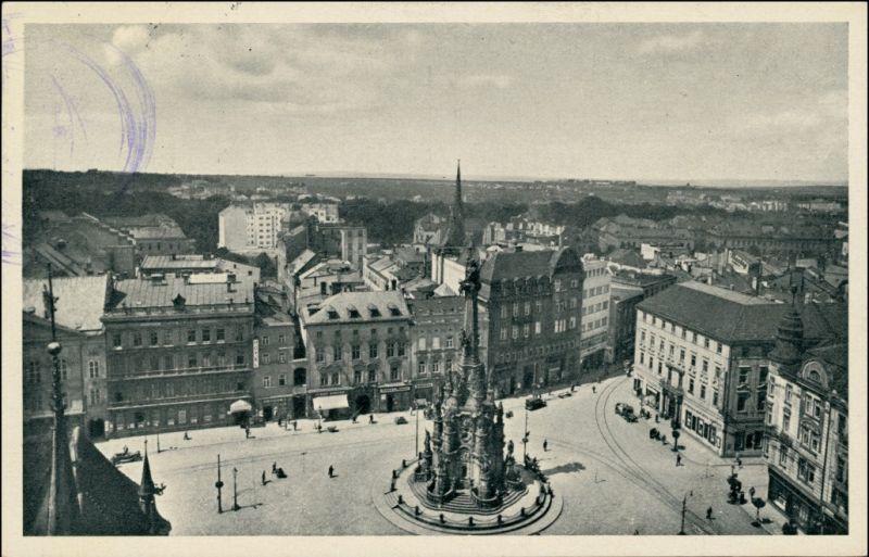 Postcard Olmütz Olomouc Blick auf Stadt und Markt 1932