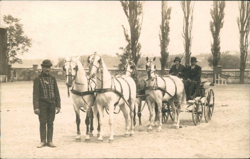 _Ungarn allgemein Pferdegespann, Kutscher Ungarische Typen 1940 Privatfoto
