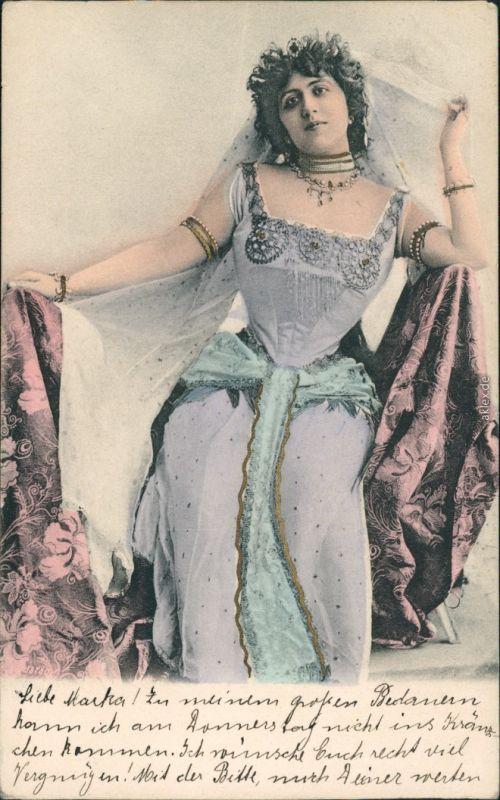 Ansichtskarte  Junge Frau, Kleid Mode - Zeitgeschichte 1905
