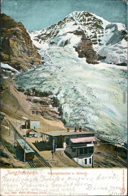 Ansichtskarte Grindelwald Bahnhof Jungfraubahn 1905