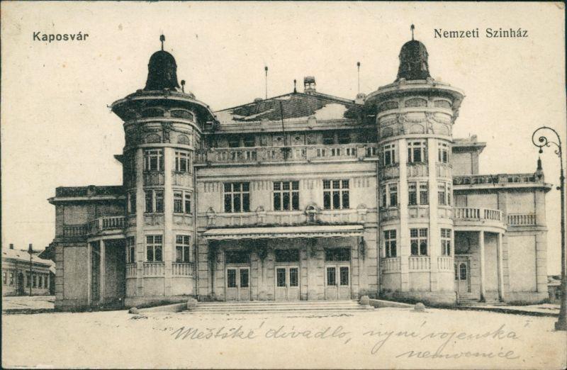 Postcard Kopisch Kaposvár | Ruppertsberg Nemzeti Szinhaz 1909