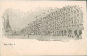 Postkaart Brüssel Bruxelles Hotel Metropole 1909