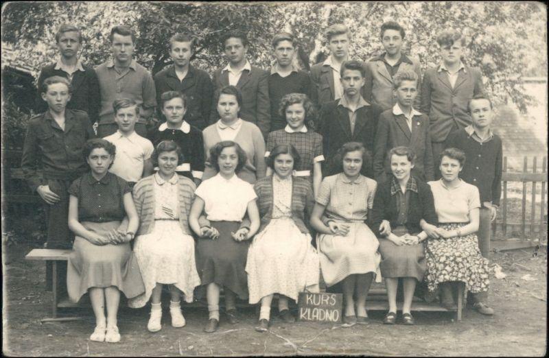 Foto Kladno Gruppenfoto Schule Kurs 1939 Privatfoto