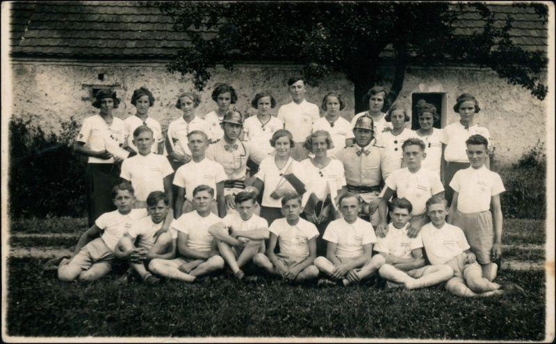 Foto Tschechien Kindergruppenfoto Manschaft 1965 Privatfoto