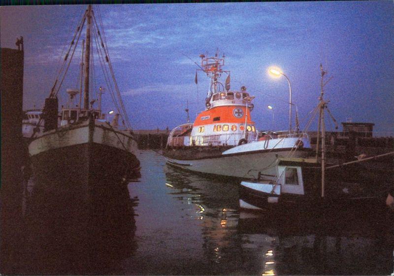 Ansichtskarte  Seenotkreuzer mit Tochterboot der 26 m-Klasse 1990