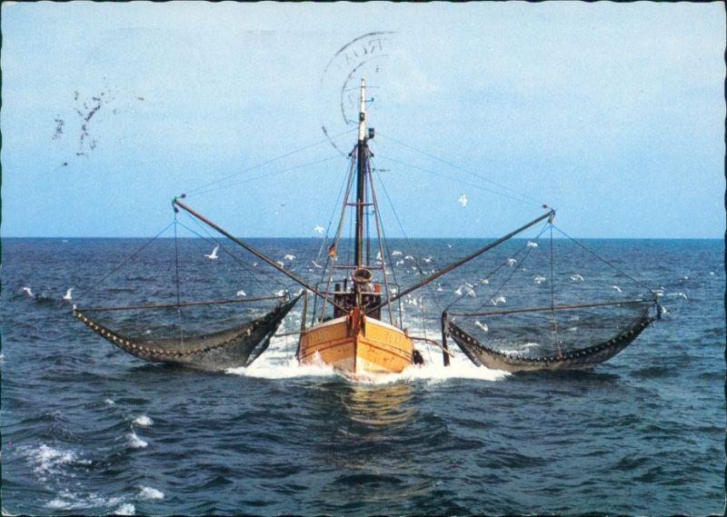 Ansichtskarte  Krabbenkutter an der Nordsee 1976