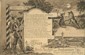Neuhammer am Queis Świętoszów Scherzkarte; Truppenübungsplatz 1909
