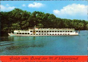 Ansichtskarte Berlin Fahrgastschiff MS Vaterland 1990