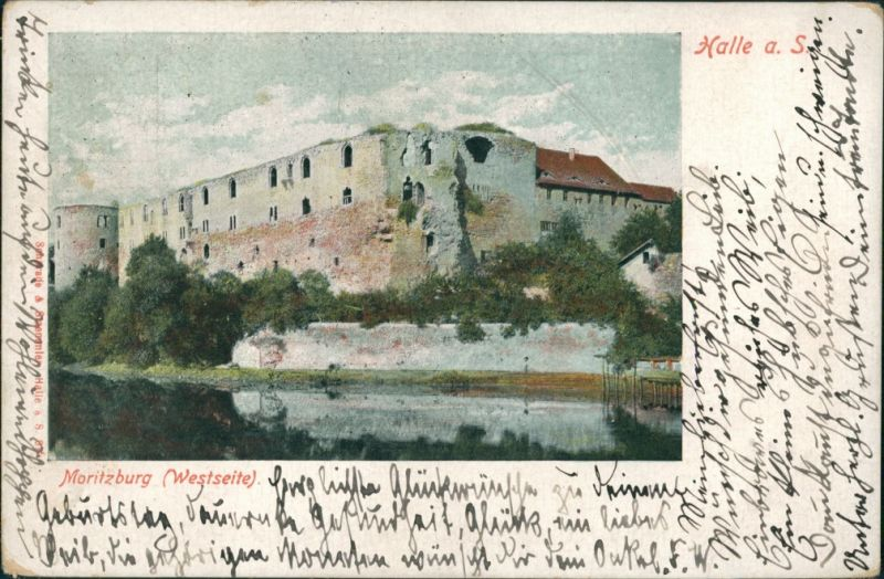 Ansichtskarte Halle (Saale) Moritzburg (Westseite) 1903