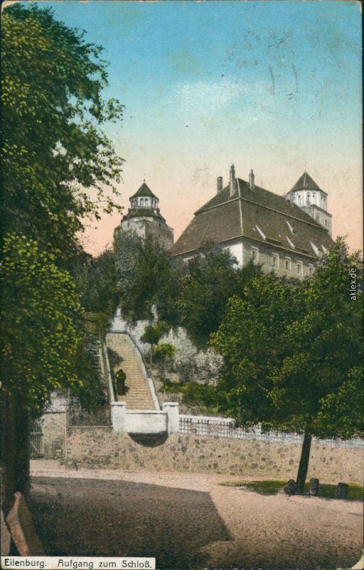 Ansichtskarte Eilenburg Aufgang zum Schloß 1918
