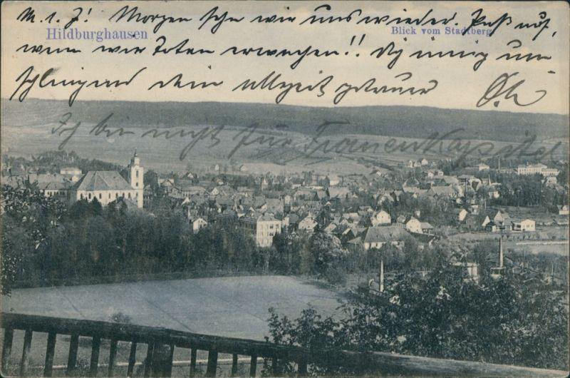 Ansichtskarte Hildburghausen Blick auf die Stadt 1913