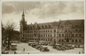 Ansichtskarte Erfurt Autos am Anger, Hauptpostamt 1928