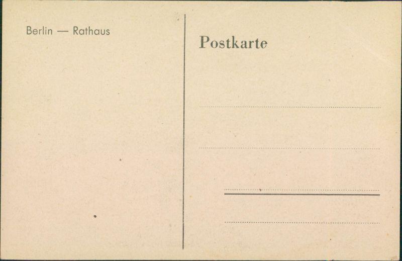 Rote Karte Berlin Mitte.Ansichtskarte Mitte Berlin Partie Am Roten Rathaus 1935