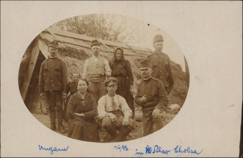 Foto  Soldaten 1. WK in Ungarn 1915 Privatfoto