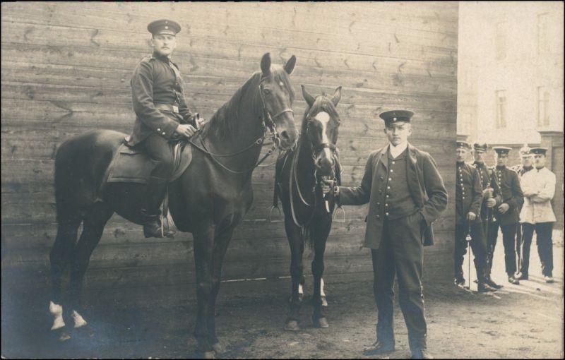 Ansichtskarte  Soldaten mit Pferden - 1. WK 1916