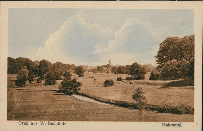 Ansichtskarte Märkisch Buchholz Partie im Dahmetal 1920
