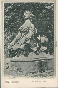 Ansichtskarte Veitshöchheim Kgl. Hofgarten – Sphinx 1913