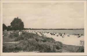 Ansichtskarte Scharbeutz Strand mit Körben 1932