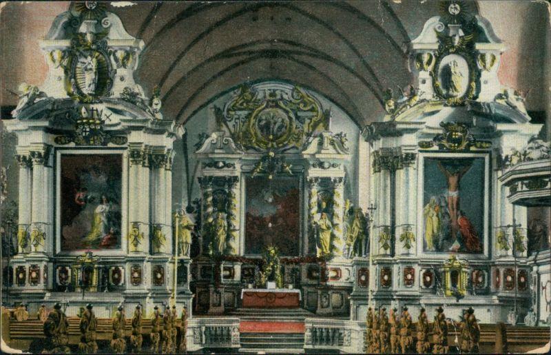 Ansichtskarte Höxter (Weser) Schloss-Kirche zu Corvey Innen 1918