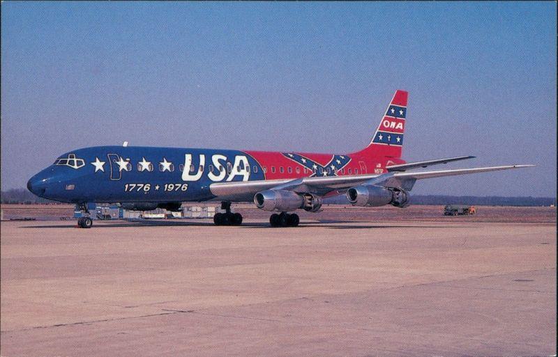 Ansichtskarte  Flugzeug Overseas National Airways 1976