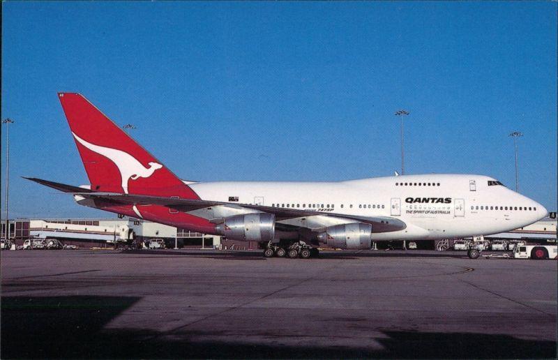 Melbourne Flugzeug - Qantas Airways Boeing 747SP-38 auf dem Flughafen 1986