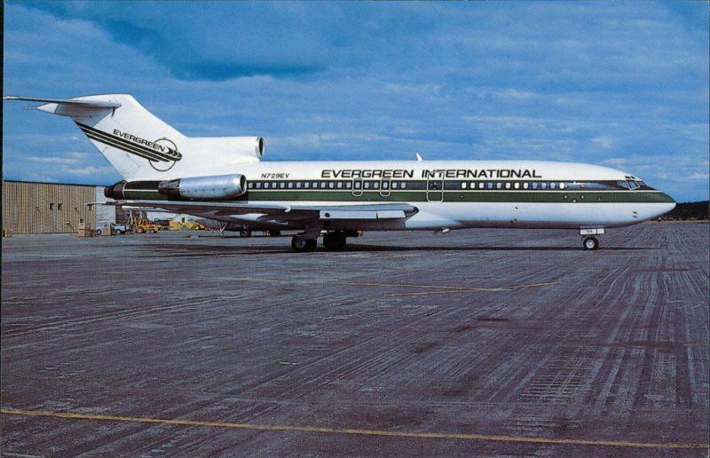 Flugzeug - Boeing 727-27C Evergreen International Airlines Flughafen 1986