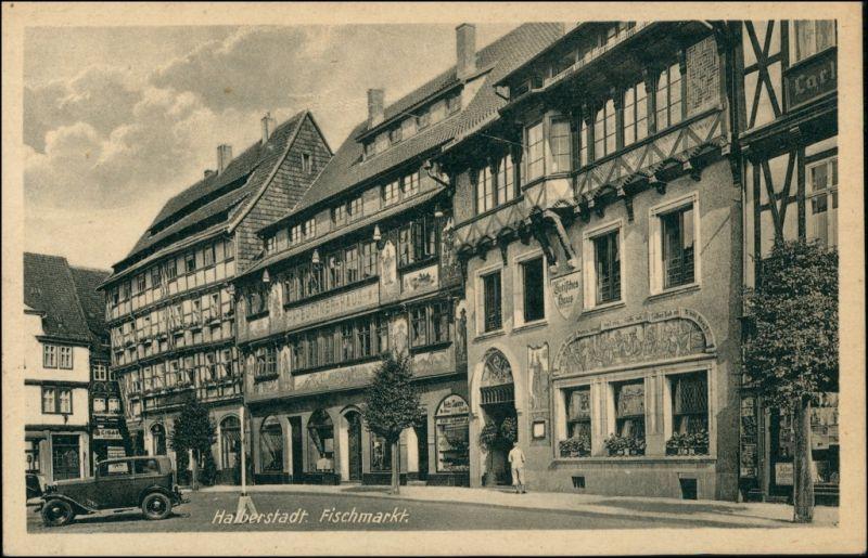 Ansichtskarte Halberstadt Fischmarkt 1939