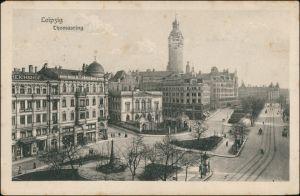 Ansichtskarte Leipzig Hotel Reichshof und Thomasring 1916