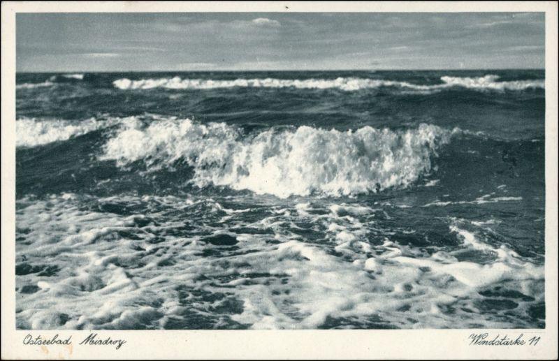 Postcard Misdroy Międzyzdroje Windstärke 11 1932