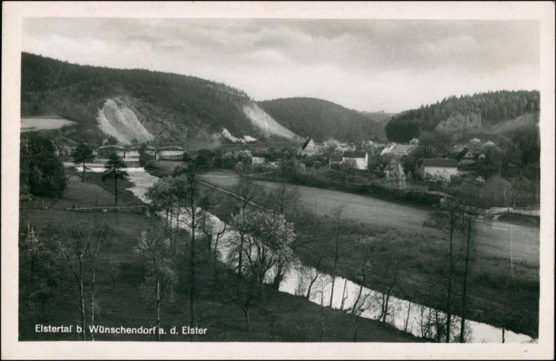Ansichtskarte Wünschendorf (Elster) Blick ins Elstertal 1934