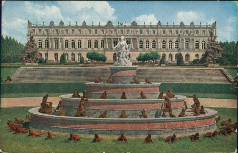 Ansichtskarte Chiemsee Schloß Herrenchiemsee mit Latonabrunnen 1921