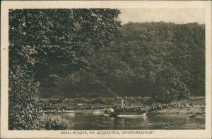 Hannoversch Münden Hann. Münden Am Weserstein, Dampferabfahrt 1922