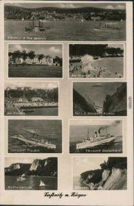 Sassnitz Saßnitz Fährschiff Preußen, Dtlnd, Strand, Wissower Klinken 1942