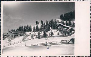 Foto  Bauden im Winter mit Bäumen 1953 Privatfoto